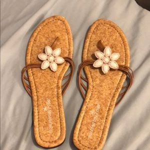 Sandals Montego Bay Club Size 10 with White Flower